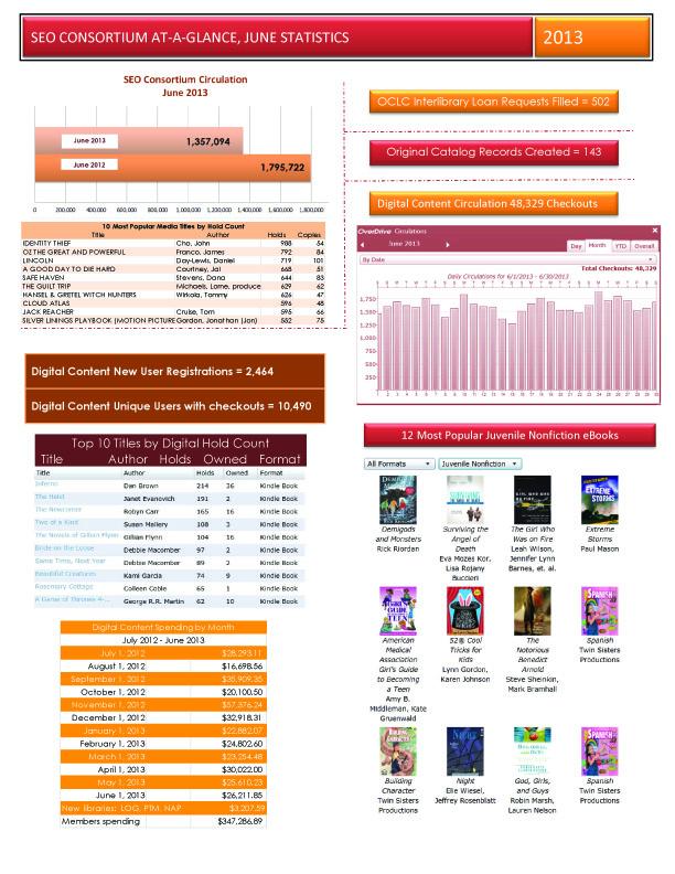 June 2013 consortium statistics