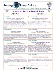 Tuesday breakouts schedule descriptions May 23, 2017-8.5x11